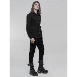 Pantaloni con rivetti