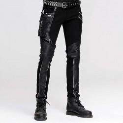 Pantaloni con tessuto  effetto marmorizzato