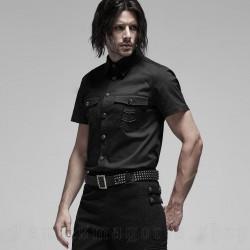 Camicia militare a  manica corta